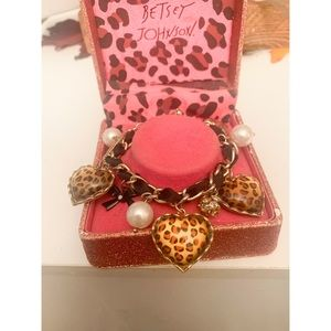 Betsey Johnson Leopard Heart Bracelet